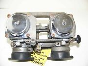 Mikuni Dual Carb 1970and039s Motorcycle Carburetor Moves Freely For Parts