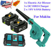 2 In 1 Cordless Leaf Dust Blower Vacuum And2x 6.0ah Batteryandcharger Kit For Makita
