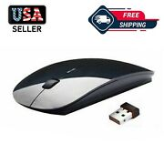 2.4ghz Usb Wireless Optical Mouse Mice For Apple Mac Macbook Pro Air Pc White
