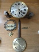 Vintage Hac Wall Clock Movement Dial Pendulum Hands And Base Gong