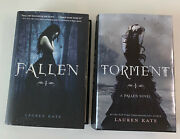 Lauren Kate Book Lot 2 Torment Fallen Hard Cover Scary Ny Times Best Seller