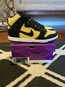 Nike Sb Dunk High Reverse Goldenrod Size 9.5 Db1640-001 - In Hand/ Fast Ship