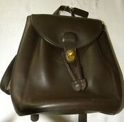 Brown Leather Backpack Purse. Markings For Coach But Do Notandnbspbelieveandnbspit Is.