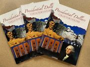 Lot 3 Presidential Dollars Collectorand039s Folders For U.s. Golden Dollars Coinage