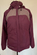 Womens' Columbia Hooded Winter Purple Jacket Coat Size M With Removable Lining