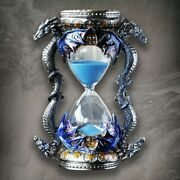 Retro Metal Dragon Hourglass Sand Timer Antique Style Ornament Home Office Decor