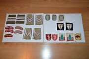 Vintage World War Ii Polish Patches Military Army Collectible Some Bullion