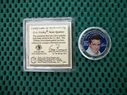 Elvis Presley Certified 25th Anniversary Tennessee State Quarter Colorized Coin