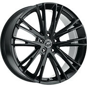 17x8 Platinum 458bk Prophecy Gloss Black With Clear-coat Wheel 5x112 40mm