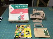 Vintage Singer Sewhandy Childs Sewing Machine Model 20 Beige Complete Box+manual