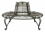 Outdoor Tree Bench Wrought Iron Fresh Look For Outdoor Brown Color Design