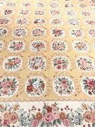 Area Rug Fine Needlepoint Flat Pile Hand Woven Country French Design, 9.0 X 12.0
