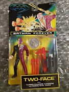 1995 Batman Forever Two-face With Turbo-charge Cannon And Good/evil Coin - Nip