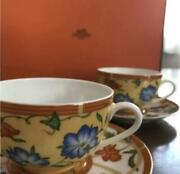 Hermes Siesta Cup And Saucer 2set Discontinued Tableware Authentic Item Tea Coffee
