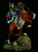 Tin Toy Soldier 90 Mm. Superb Luxury Painting In St. Petersburg.chinese General