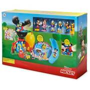 Disney Store Jr Mickey Mouse Clubhouse Deluxe Playset Lights Sounds Figures New