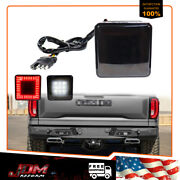 2'' Trailer Truck Hitch Towing Receiver Cover Smoke Led Brake Light Cover W/ Pin