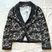 Total Race Jacket Coco Mark Button Flower Lace 38