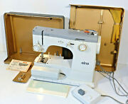 Elna Sp Special Sewing Machine Model 31 Orig Steel Case Pedal Manual - Working