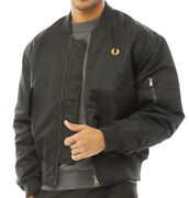 Fred Perry Mens Quilted Bomber Jacket Black All Uk Sizes New Rrp Andpound194.99