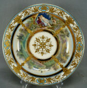 Dresden Hand Painted Signed Friedrich Tannhauser And Venus Wagner Opera Plate