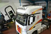 Roof Bar B + Led Spots + Leds To Fit Mercedes Actros Mp4 Bigspace Truck Lighting