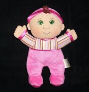 My First Cabbage Patch Kid Doll 2010 Soft Face Green Sewn Eyes Pink Sleeper