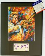Dizzy Gillespie Signed Display Psa Dna Coa Autographed Music Jazz Band Photo