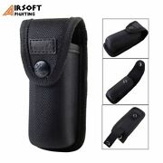 Tactical Molle Electric Lamp Holster Pocket With Belt Clasp Compact Open Air Spo