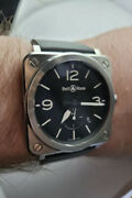 Bellandross Brs-64-s Quartz Menand039s Watch With Box