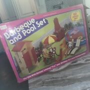 Wow. Vintage Sears Bbq And Pool Set For Barbie. Complete Used. Dishes Chairs