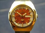 Swiss Tressa Lux Crystal Automatic Watch 1970s Nos Vintage Retro Cal As 5206