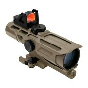 Vism 3-9x40mm Tactical Scope Tan Mil Dot Reticle And Red Dot Reflex Optic Mark 3