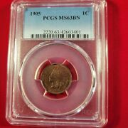 1905 Indian Head Penny Pcgs Ms63 Bn