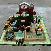 2013 Fisher Price Little People Fun Sounds Farm Animals Tractor Zoo Train Lot