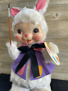 Vintage The Rushton Company Rubber Face 19 Artist Easter Bunny Plush Doll Toy