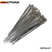 100 Exhaust Heat Stainless Steel Cable Ties Wrap Metal Tie Extra Long Wide Large
