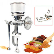 Manual Hand Mill Grinder For Grains, Corn, Beans Silver Stainless Steel Grinder