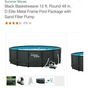 Local Pickup Only - 15 Ft. Round 48 In. D Elite Metal Frame Above Ground Pool