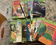 Leap Frog Tag Reader Pen - 13 Leap Frog Books - 2 Clear Cases - Tested