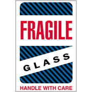 4 X 6 Fragile - Glass - Handle With Care Labels 5000 Pcs