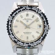 1960s Ricoh Automatic Calendar 30 Date World Time 24 Hours 21 Jewels Unused