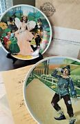 Collector Plates - Two Plate Set Wizard Of Oz Series 1977 - 1979