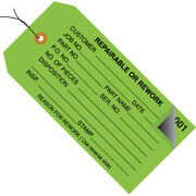 4 3/4 X 2 3/8 And039repairableand039 Inspection Tags Numbered 000-499 Prewired -5000 Pcs