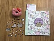 Pusheen Coloring Boo, Magnet Set, And Hello Kitty Squishy Donut Keychain