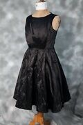 Jigsaw Occassion Dress Black With Netted Skirt Bnwt Size 10