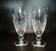 2 Waterford Crystal Ireland Colleen Champagne Flute Footed Glass 6