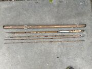 Vintage Bamboo Fly Rod 4 Piece Extra Tip Please Read