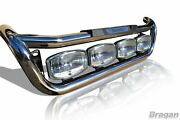 Grill Light Bar C + Led Spots + Side Leds To Fit Mercedes Atego 07+ Stainless