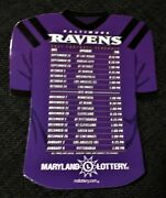 New 2021 Baltimore Ravens Maryland St. Lottery Team Schedule Magnet